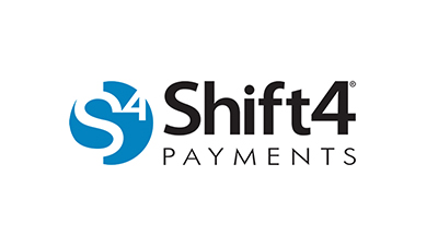 Shift4 logo.